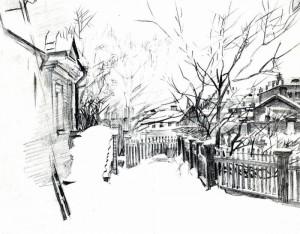 уроки рисования пейзажа Врубель
