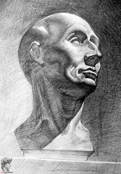 рисунок-гипсовая-голова-поступление