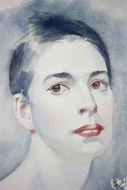 как рисовать портрет акварелью рисуем портрет