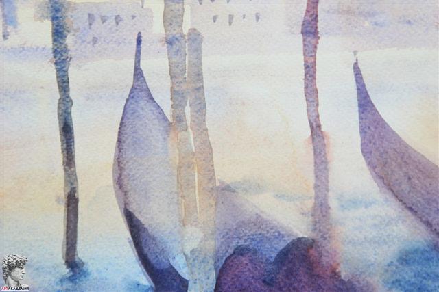 как рисовать на курсах росования акварельный пейзаж