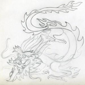 уроки рисования - как нарисовать дракона
