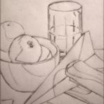 Уроки рисования – натюрморт, построение, контуры, часть 2