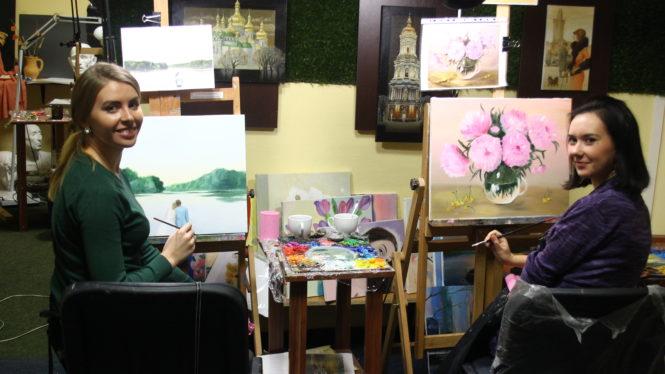 Мастер-класс по рисованию маслом в Киеве