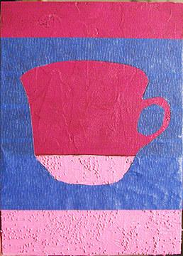 чашка-акриловыми красками