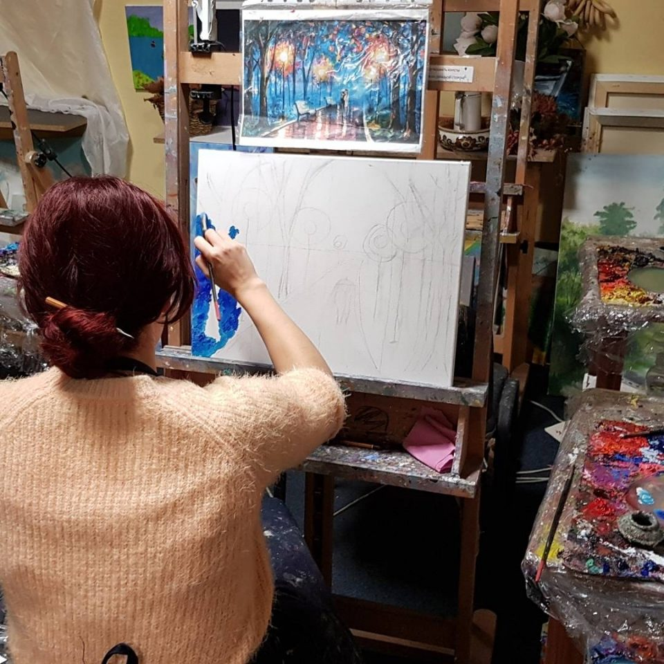 упражнения по правополушарному рисованию в студии Артакадемия
