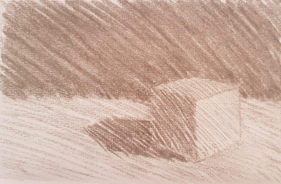 Набросок куба карандашом (академический рисунок) 37 Артакадемия Киев