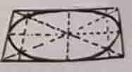 Курсы рисунка карандашом - как рисовать эллипс в квадрате