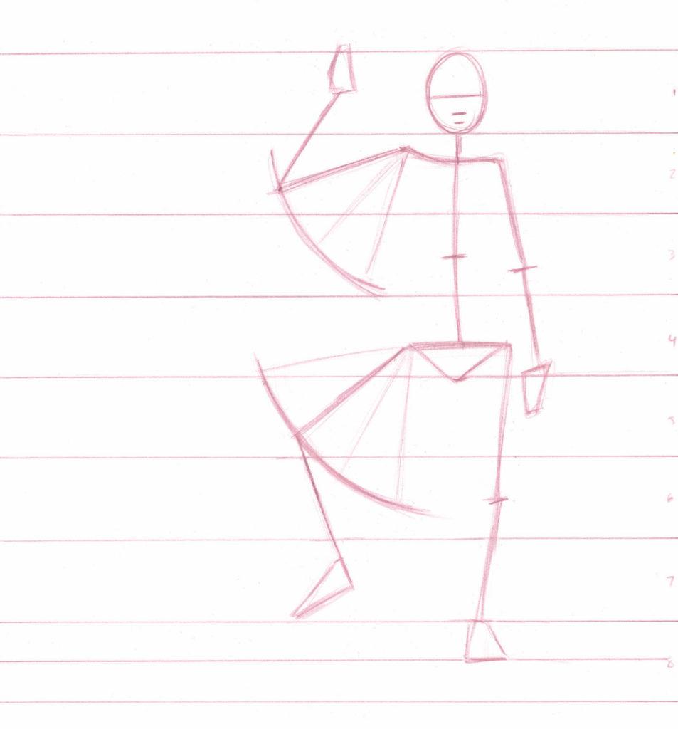 человек в движении линейный рисунок карандашом курсы