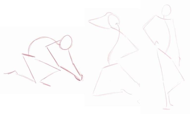 рисуем плечи и руки схематично - мастер класс по рисунку человека карандашом в Артакадемии