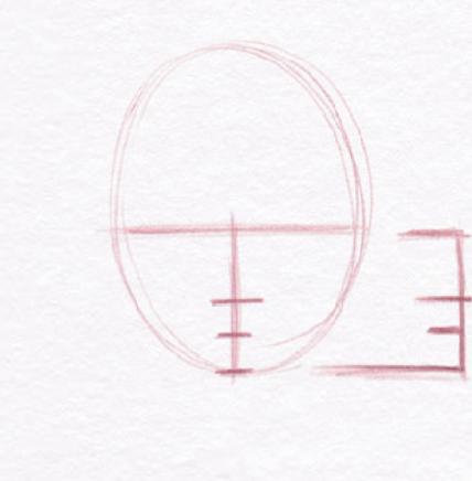академические пропорции головы человека линейный рисунок - курсы Артакадемия
