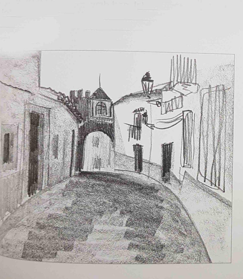 рисунок карандашом городского пейзажа