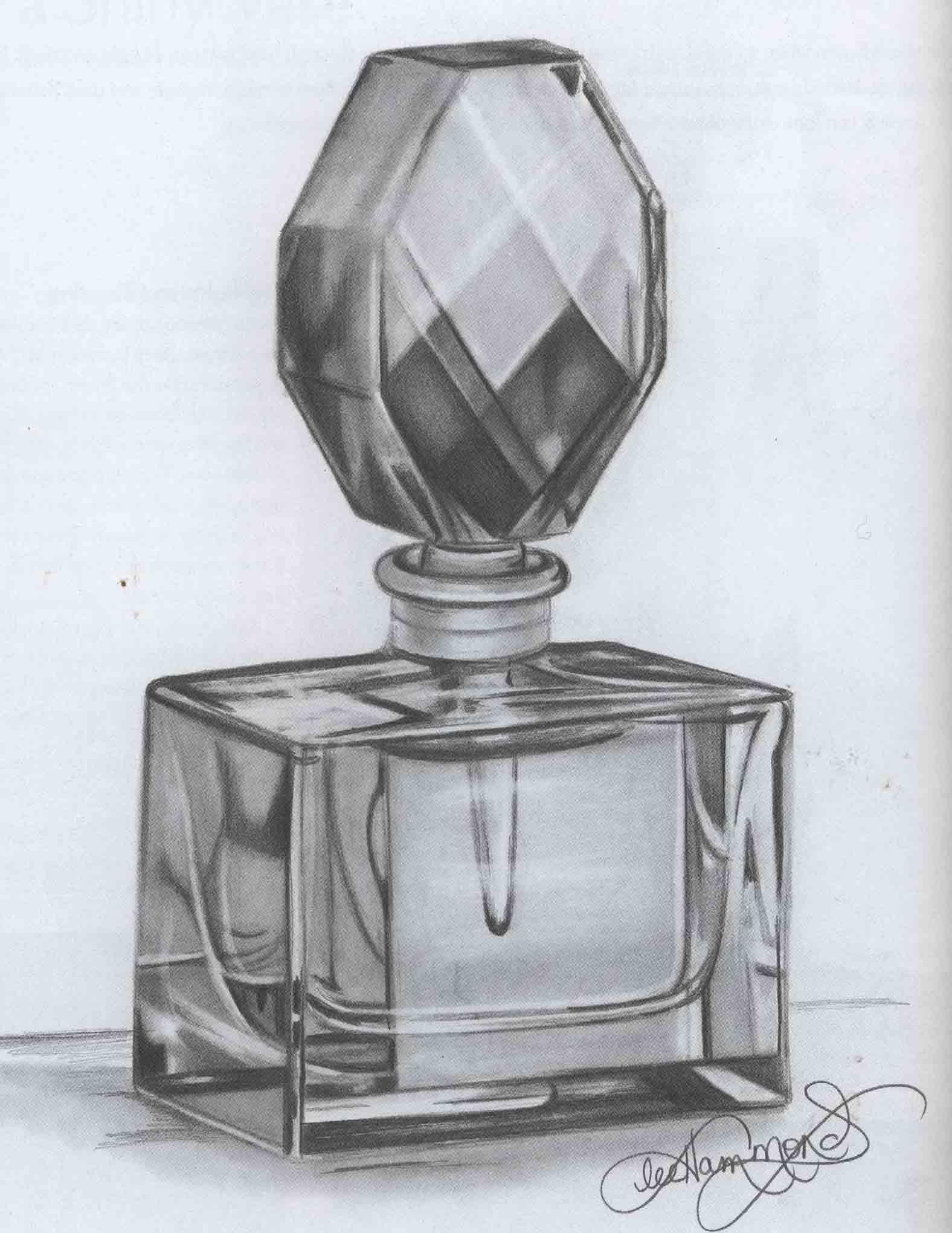 рисунок натюрморта и блестящих предметов