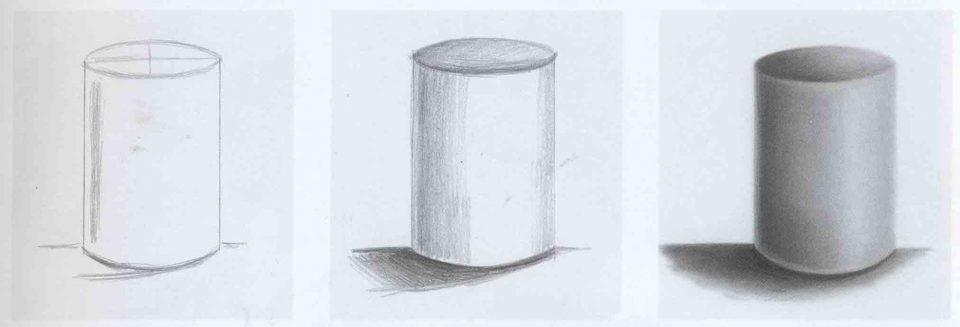 как рисовать цилиндр карандашом