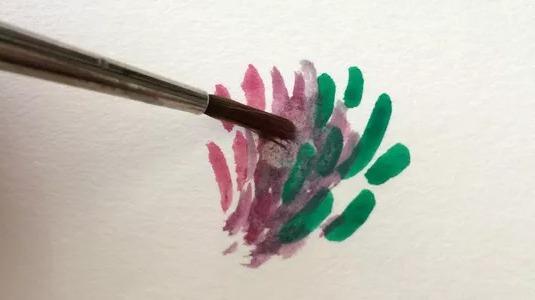 Мастер класс по живописи гуашью: размытые мазки кистью