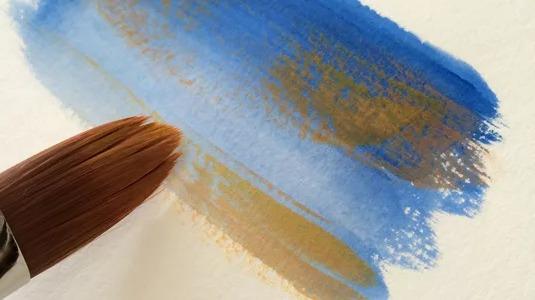 Мастер класс по живописи гуашью: сухая кисть